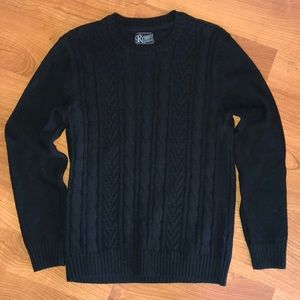 MENS thick black sweater